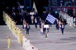 Grecia fue la primera delegación en el desfile.
