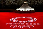 El logo de los Juegos de Tokio con la recreación del monte Fuji.