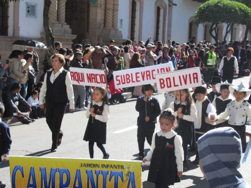 El NIvel Inicial abrió los festejos de mayo.