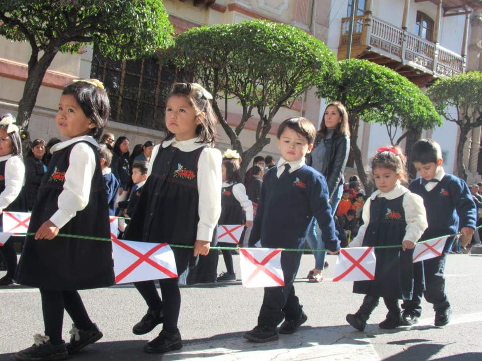 La celebración del Primer Grito Libertario de América Latina se abrió con el desfile del Nivel Inicial