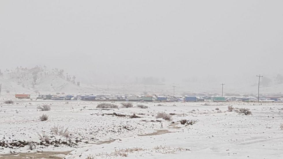 Nevada en Malliri, comunidad de San Lucas.