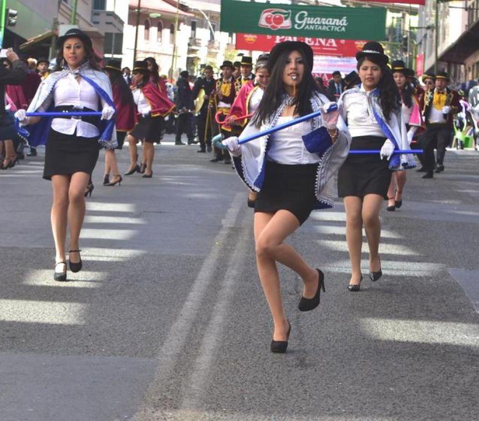 Hubo derroche de alegria en la Entrada Universitaria de La Paz.