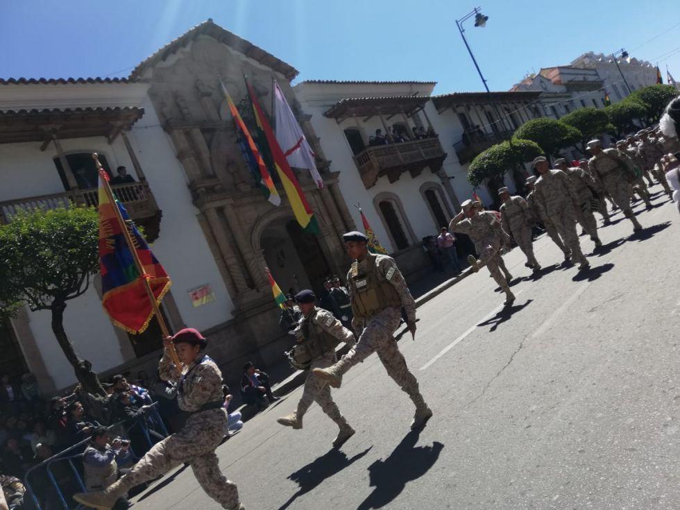 Conmemoración de los 194 años de la independencia de Bolivia en Sucre
