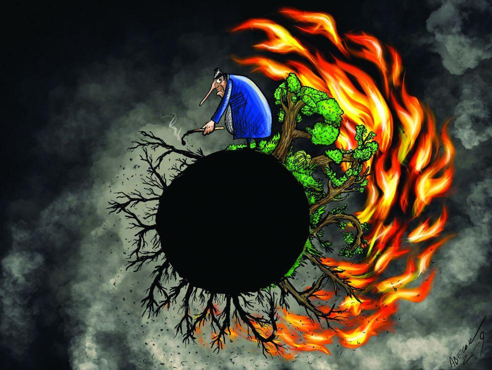 Caricaturistas se expresan sobre los incendios forestales con sus ilustraciones