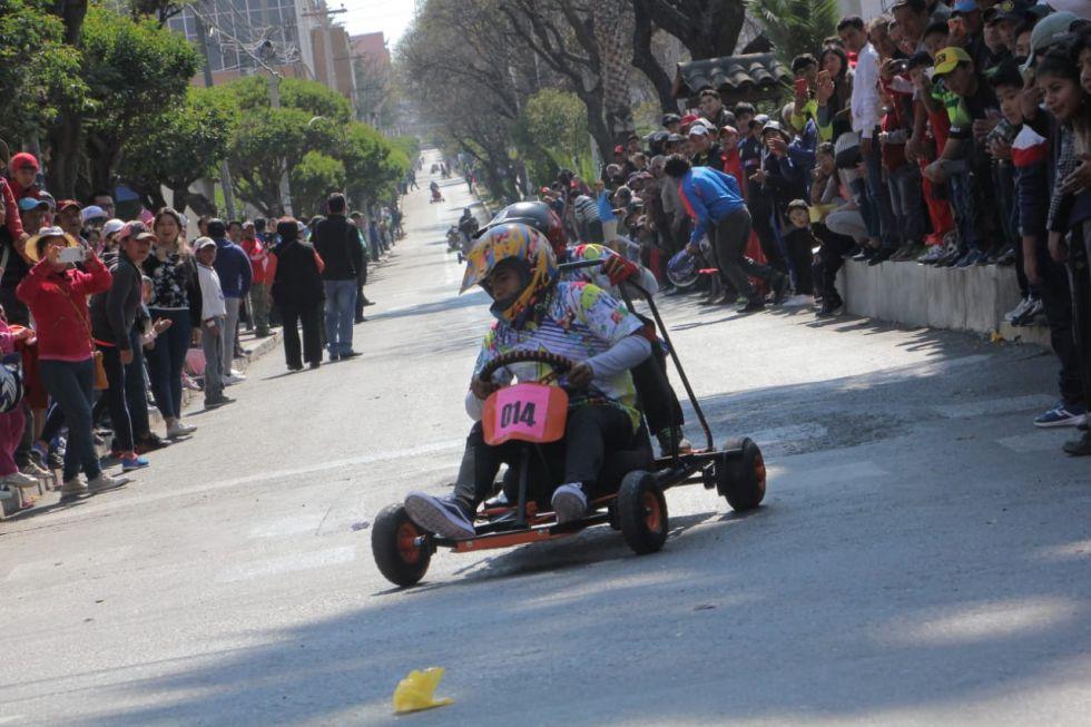 La competencia de cochecitos sin motor se disputó la mañana de este domingo. .