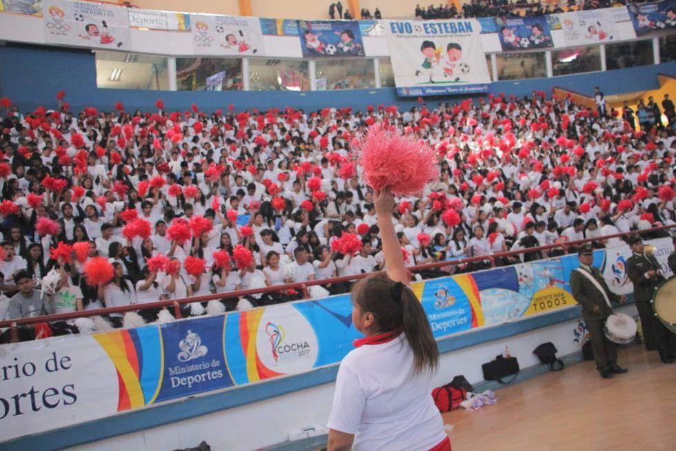 Los Juegos Plurinacionales de la fase departamental se inauguraron  este lunes.