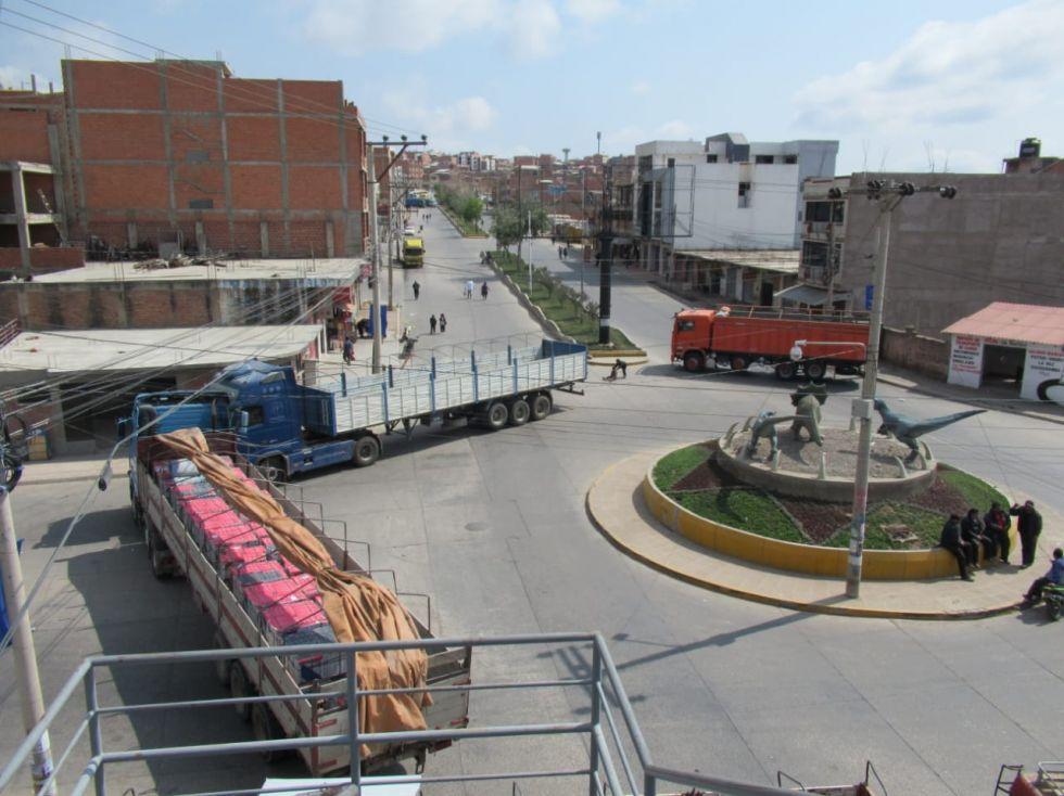 El bloqueo en la salida a Cochabamba.