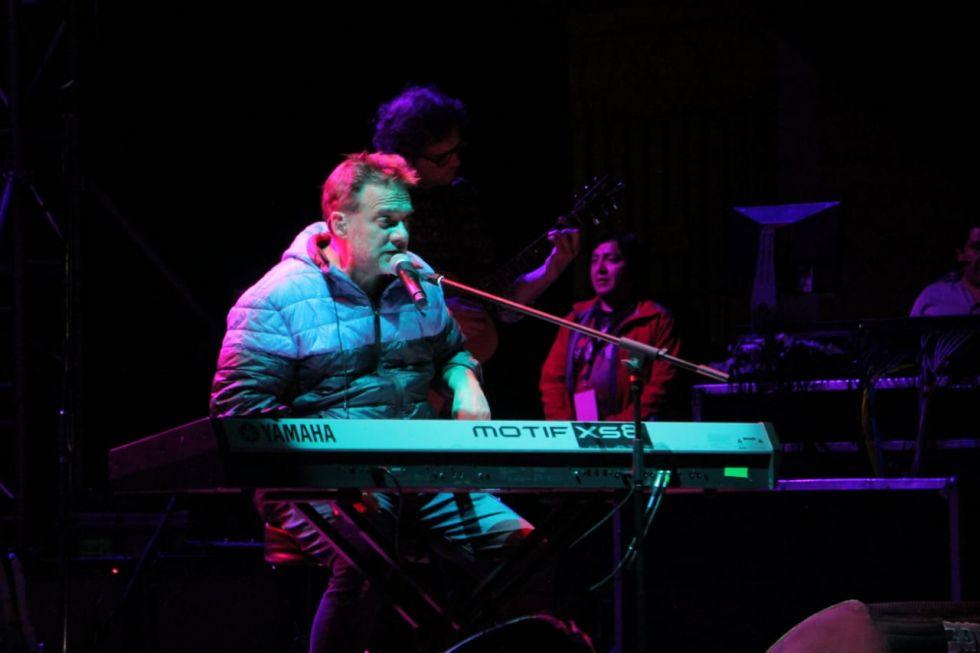 Vicentico ofreció un concierto en el marco del Festival internacional de la Cultura.