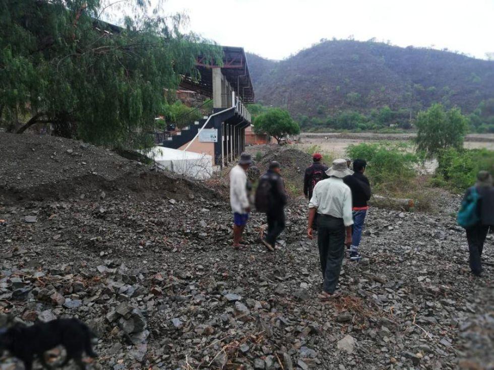 La lluvia causó daños en la comunidad de Cantu Molino.