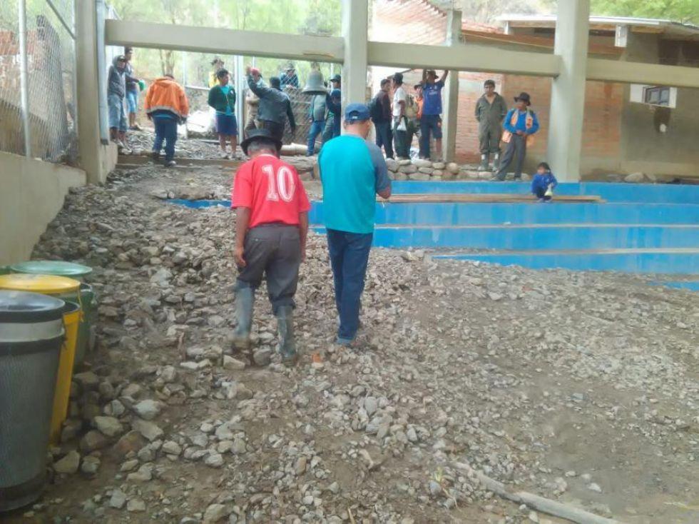 El coliseo de la comunidad de Guadalupe fue uno de los más afectados.