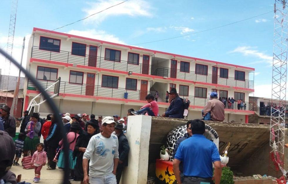 El recinto electoral del municipio de Villa Charcas.