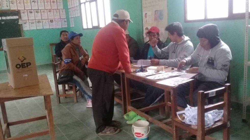 Pobladores del municipio de Incahuasi