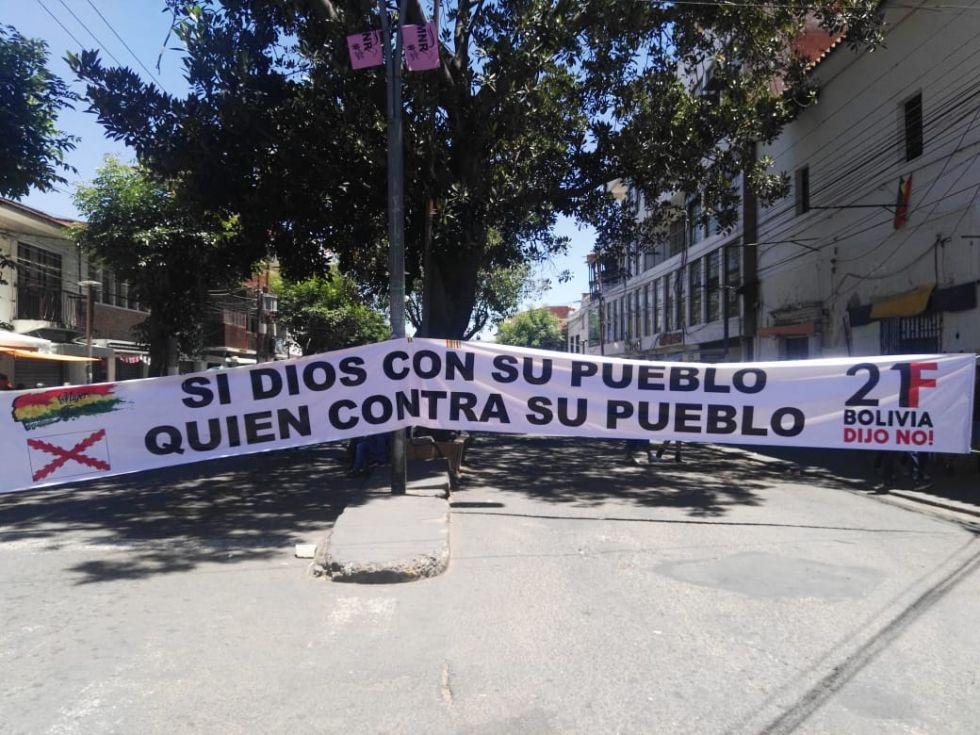 Sucre: Panorama del paro cívico de la primera media jornada