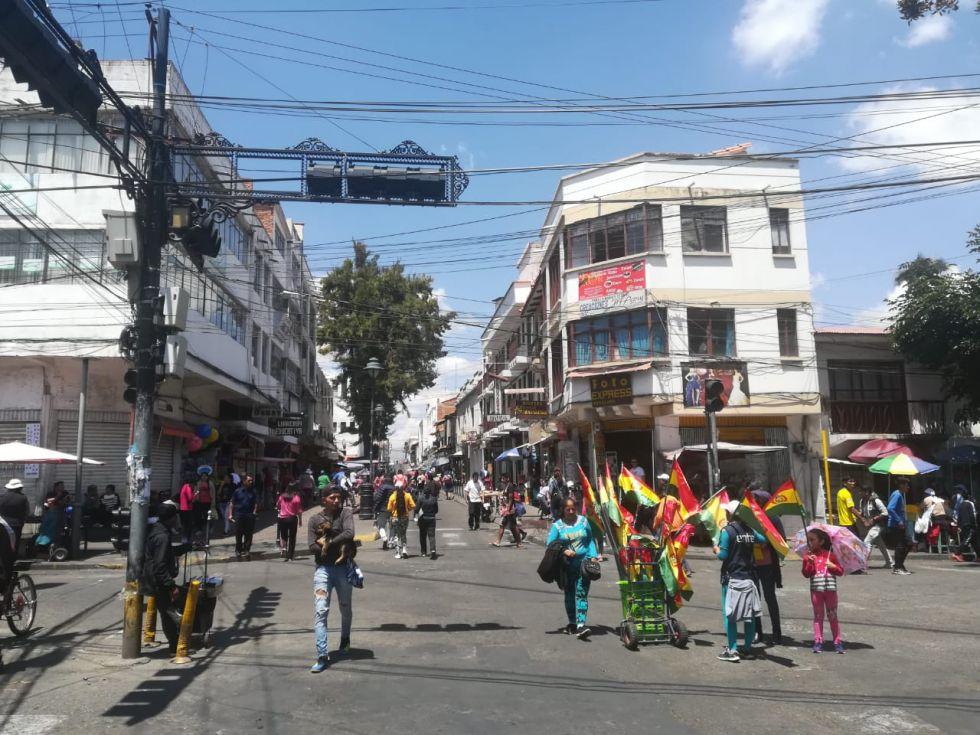 Panorama de la primera media jornada del tercer día de paro cívico