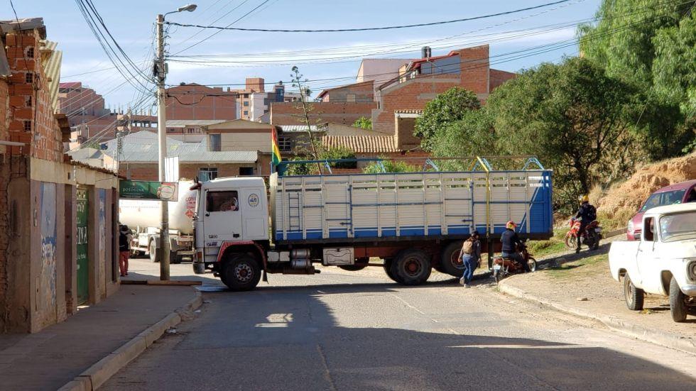 Panorama de los bloqueos en Sucre en el inicio de semana