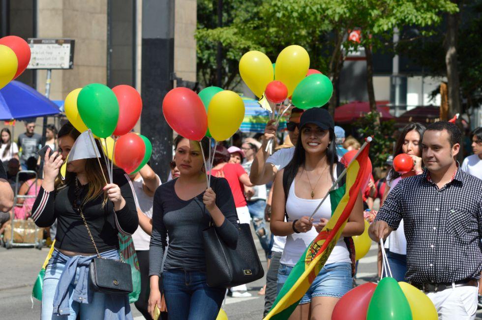 Residentes bolivianos marcharon en Sao Paulo