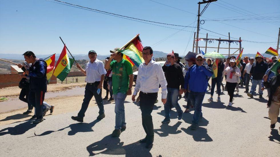 El sector de Qhora Qhora fue el punto de concentración e inicio de la movilización