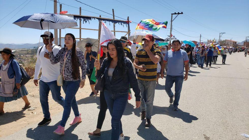 Sucre: Cientos de personas afines al MAS, marcharon en defensa de los resultados de las elecciones 2019