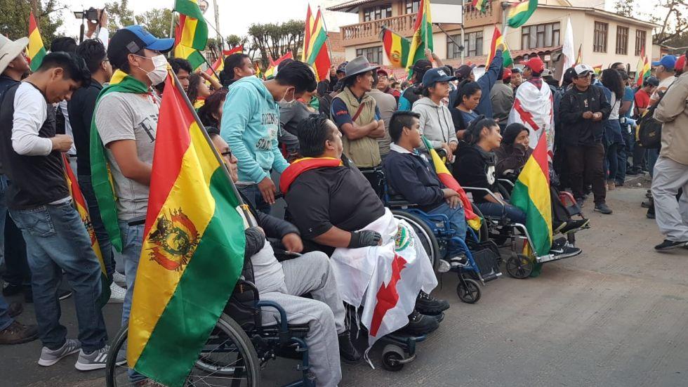 Personas con discapacidad asistieron a la concentración.