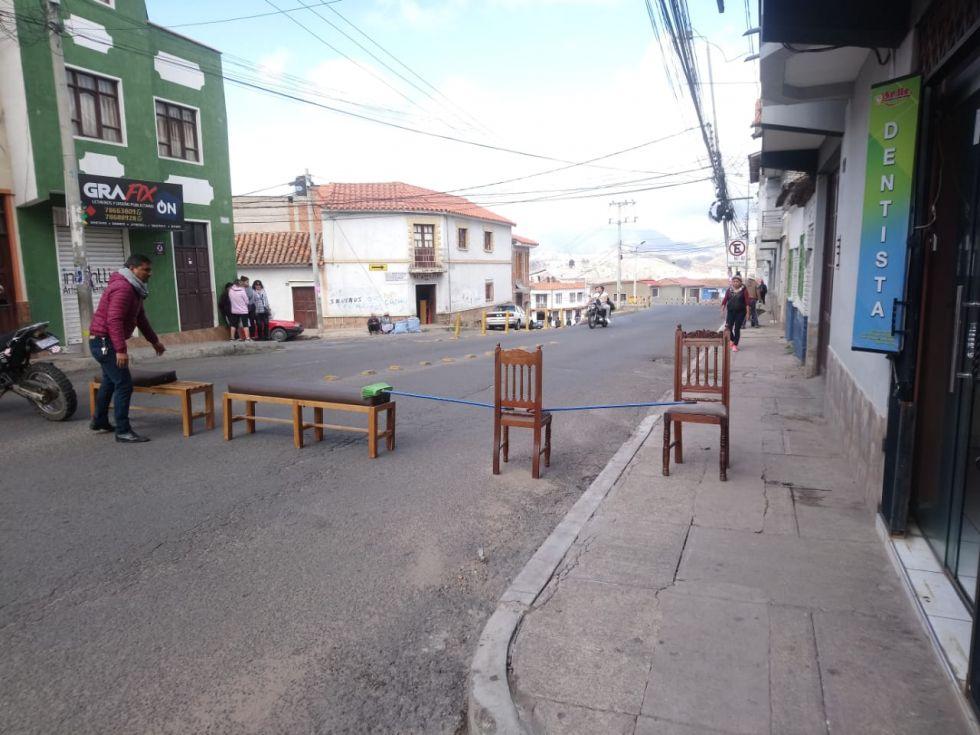Así lucen varias calles y avenidas de Sucre.
