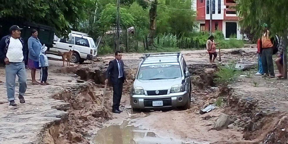 Fuerte lluvia en Monteagudo