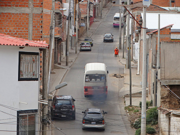 Calle Ingavi, un problema para el barrio Urriolagoitia