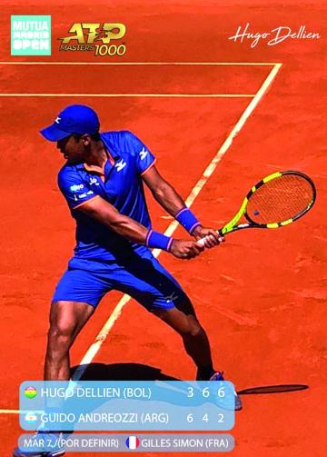 Dellien avanza al cuadro  principal del ATP de Madrid