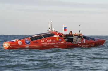 Ruso llega a aguas chilenas en su kayak desde Nueva Zelanda tras 141 días